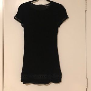 Lulu's Black Dress with Crochet Accents - Small